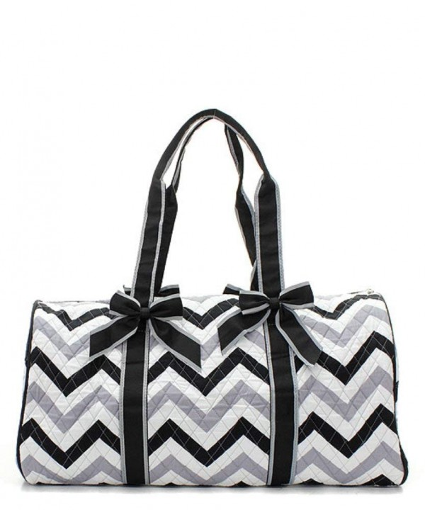 Quilted Chevron Duffle Travel Monogram