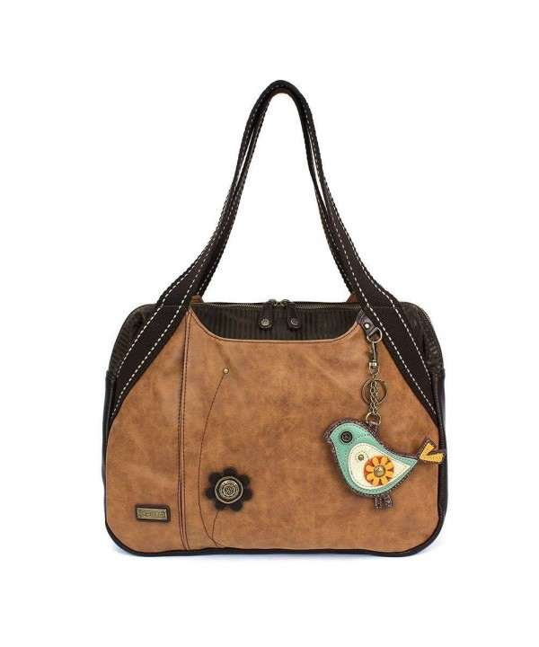 Chala Large Bowling purse Brown
