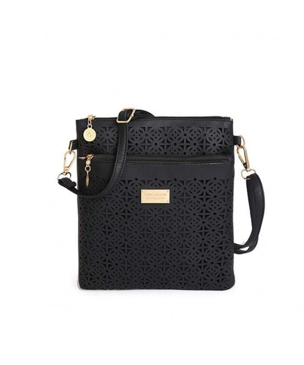 Euone Hollow Leather Shoulder Handbag