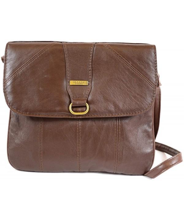 cda7569cba ... Cross Body Bag (Black- Dark Brown- Tan) - Brown - CM11L8YAXG9. On sale!  New. Ladies Super Nappa Leather Shoulder