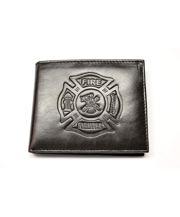 Fighter Embossed Leather Bilfold Wallet