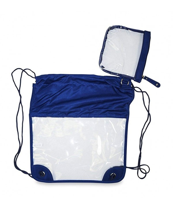 Clear Drawstring Backpack Inches Royal