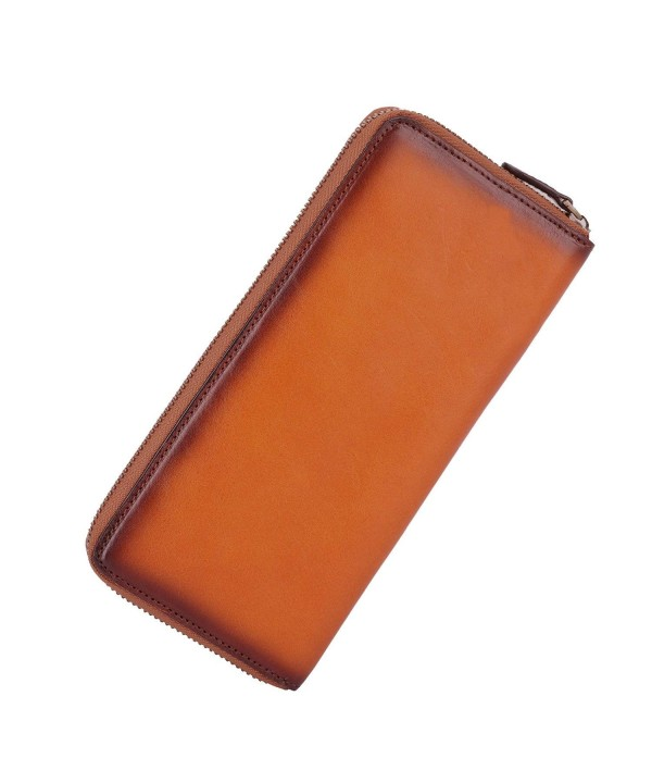 Banuce Leather Wallet Around Purse