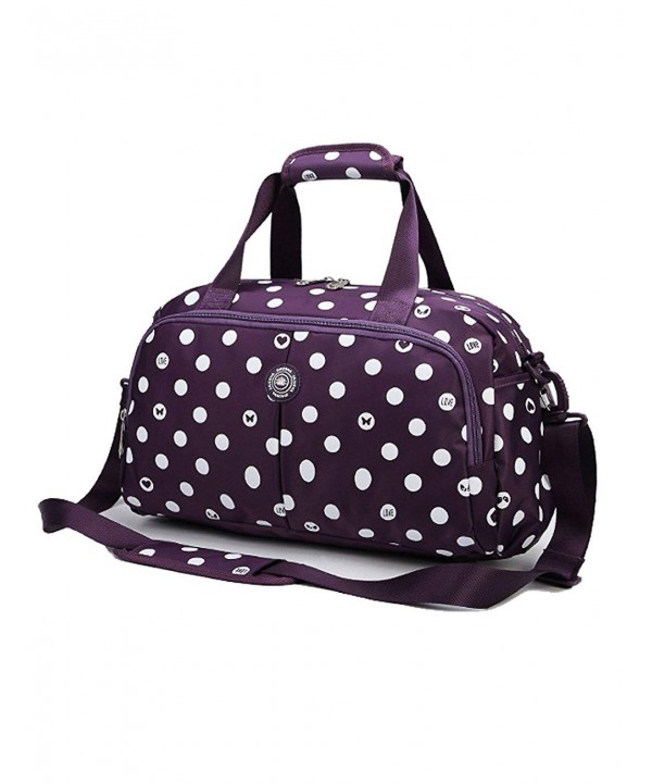 Womens Overnight Travel Duffel Purple