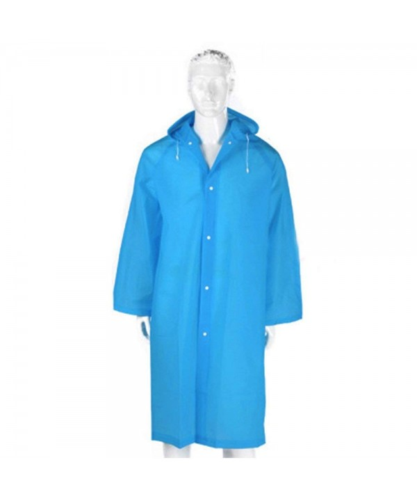 Alotpower Drawstring Long Sleeve Raincoat Rainning