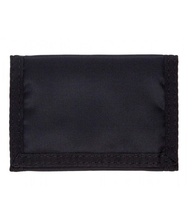 Trifold Hook Loop Wallet Black