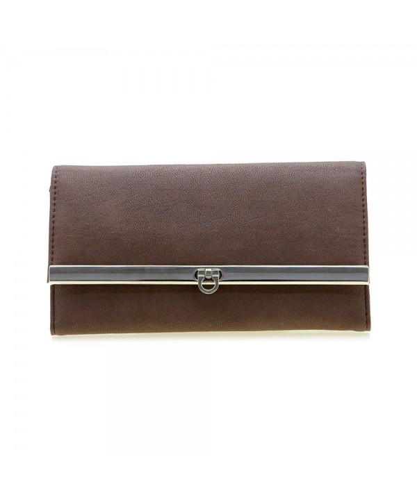 Dasein Tri fold Texture Leather Checkbook