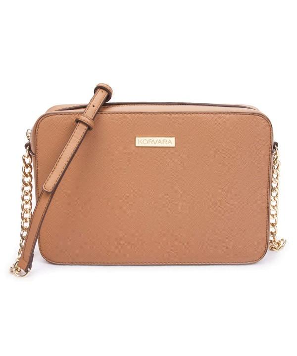Korvara Saffiano Crossbody Bag Leather