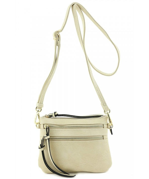 Multi Pocket Small Crossbody Beige