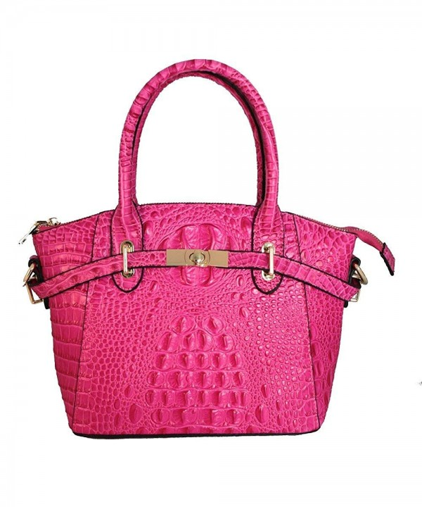 Genuine Crocodile Pattern Leather Handbag