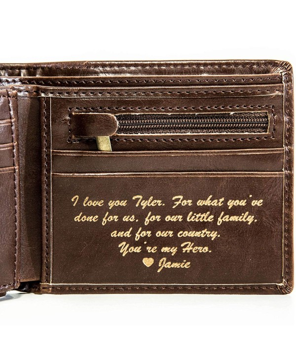 Personalized Mens Wallet Boyfriend Groomsmen