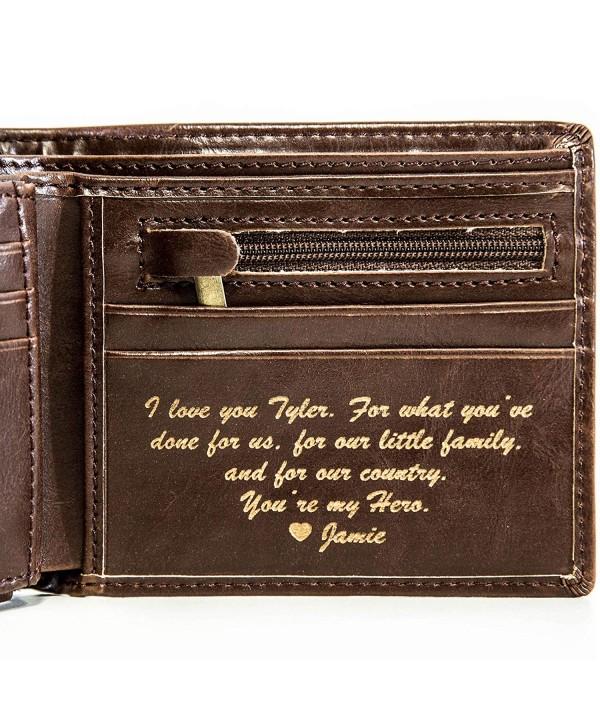 Personalized Mens Wallet Boyfriend Groomsmen