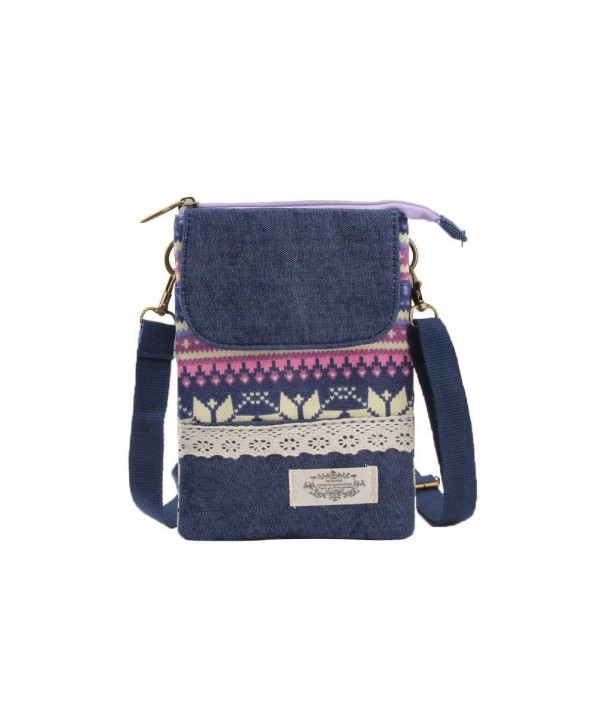 Phone Canvas Crossbody National Pattern