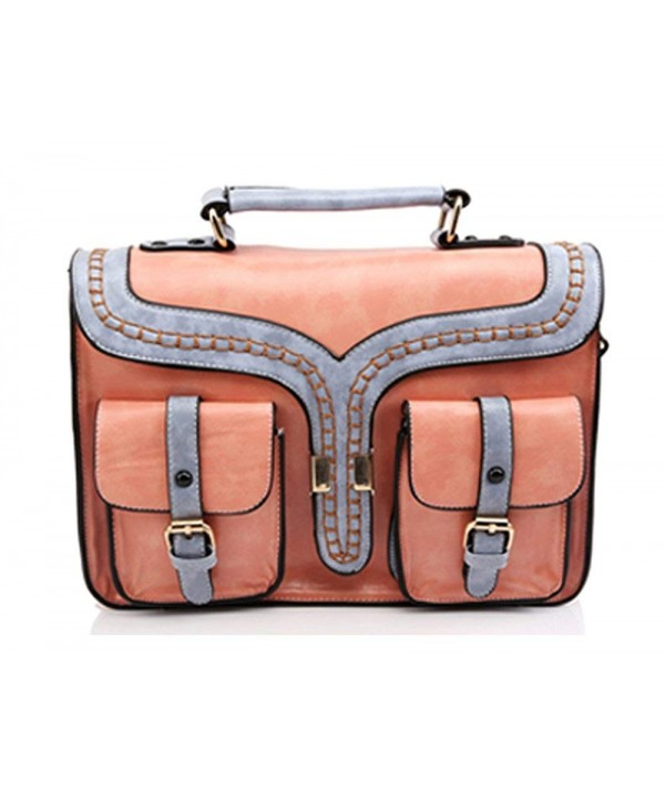 UONBOX Leather Briefcase Messenger Crossbody