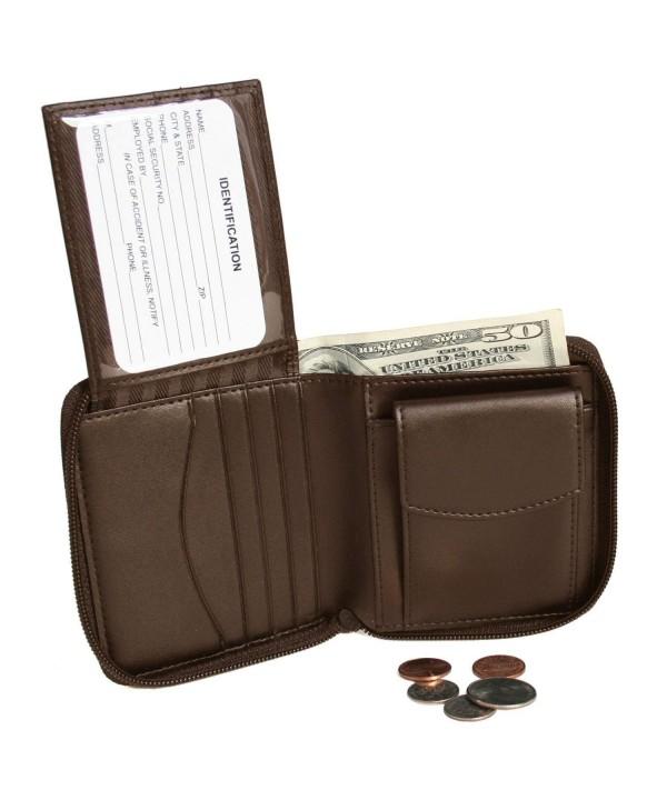 Royce Leather Zip Around Wallet