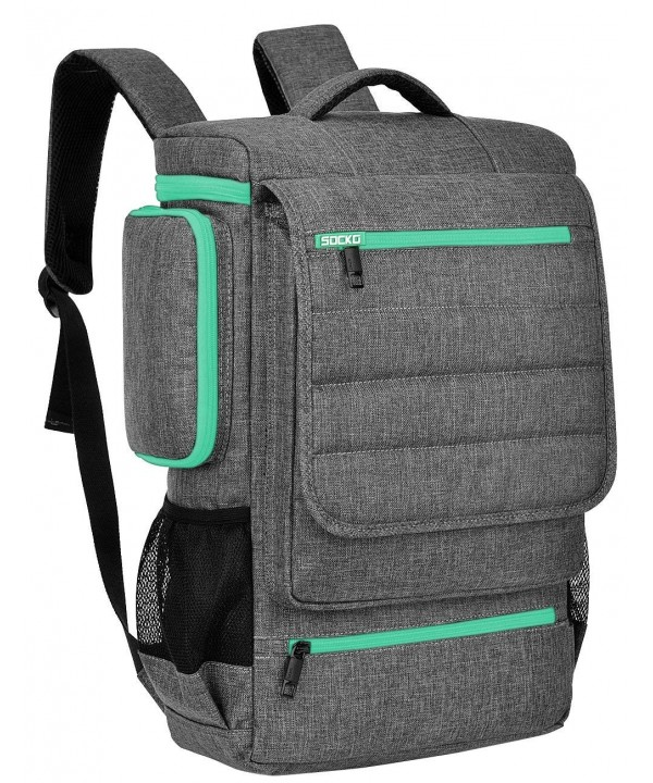 Backpack BRINCH Multifunctional Backpacks Grey Green