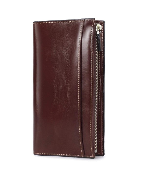 S ZONE Genuine Leather Trifold Organizer