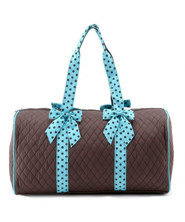 Quilted Solid Large Duffle Turquoise