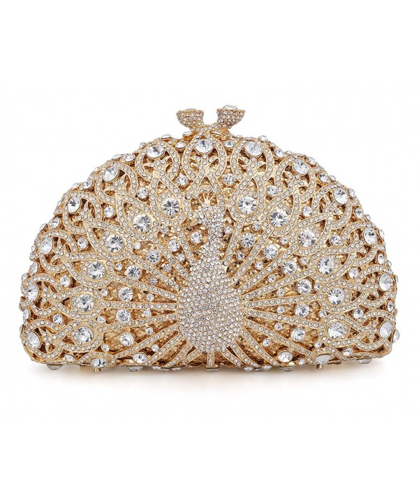 Crystal Clutch Peacock Rhinestone Evening