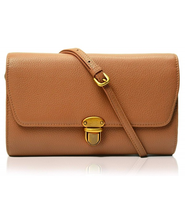 Genuine Leather Crossbody Envelope Evening