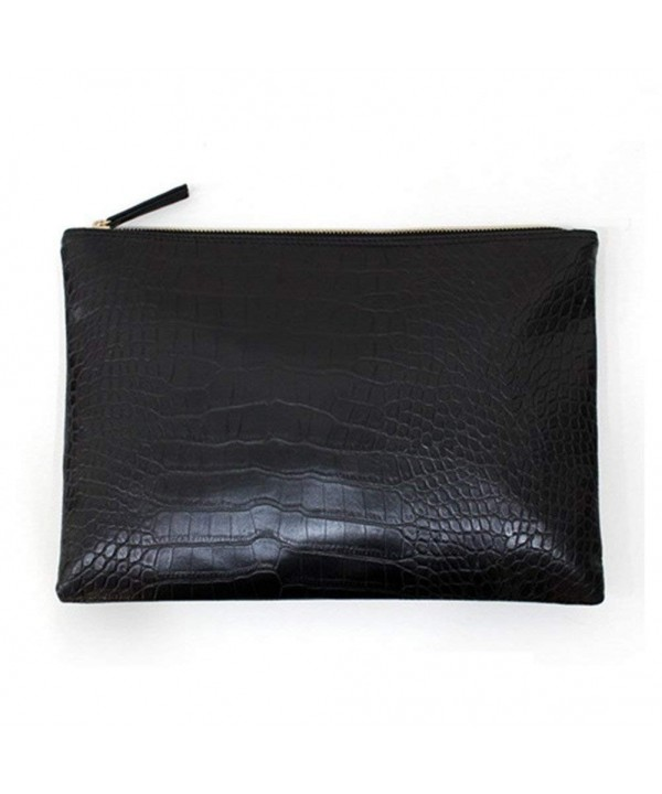 NIGEDU Clutches Crocodile Leather Envelope