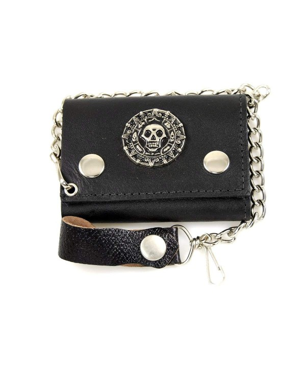 Biker Chain Wallet Genuine Leather