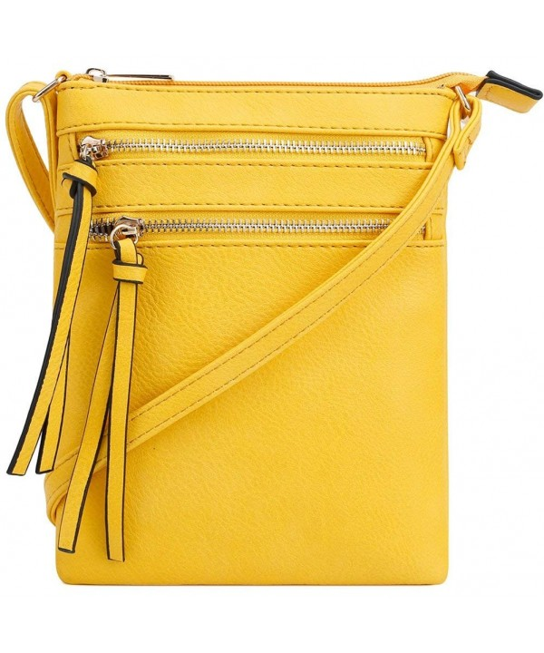VOCUS Leather Crossbody Functional Zipper