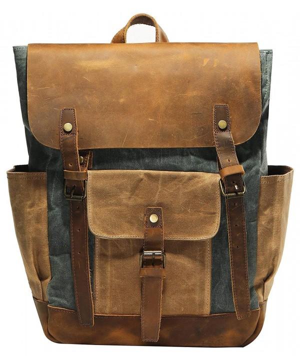 Vintage Waterproof computer Backpack Rucksack