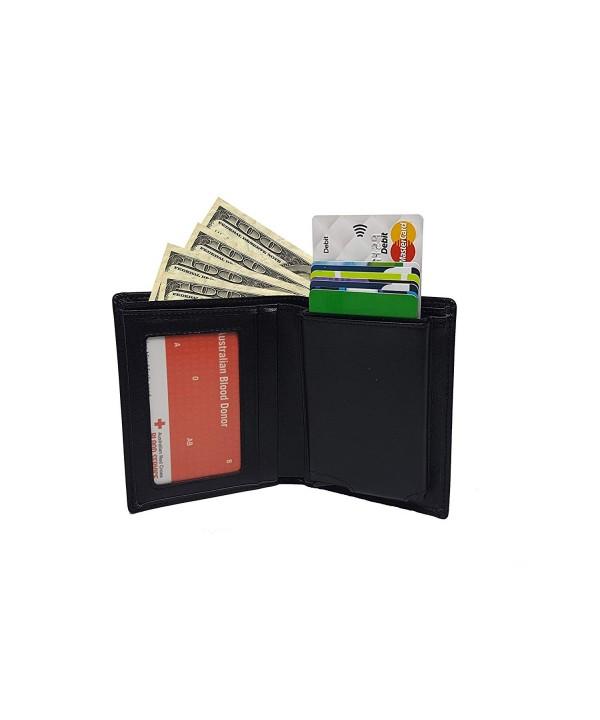Limited leather wallet dispenser blocking