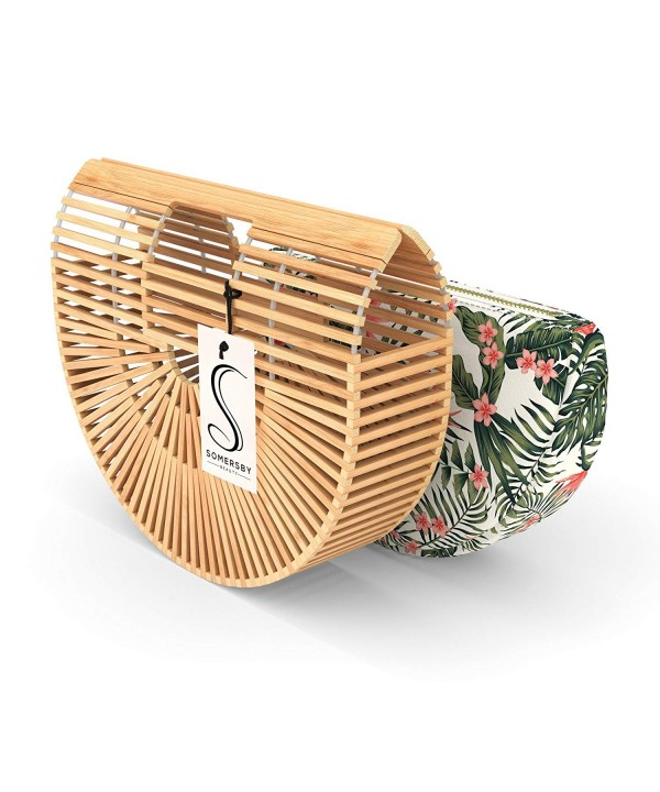 Bamboo Handbag Womens Basket Handmade