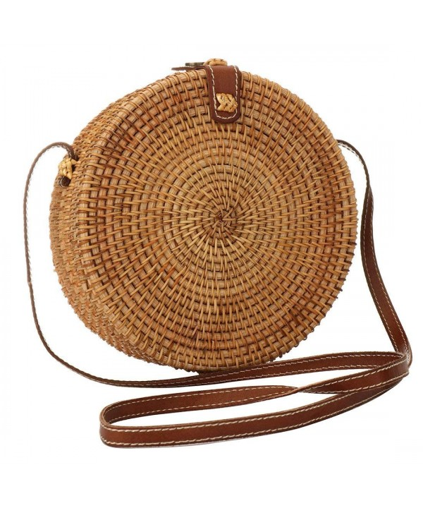 Straw Woven Bag Crossbody Interlocking