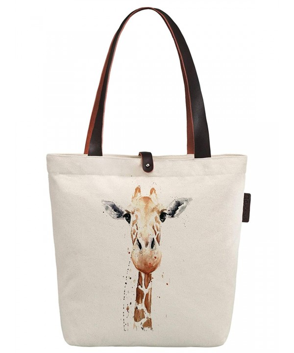 Soeach Giraffe Graphic Handbag Shoulder