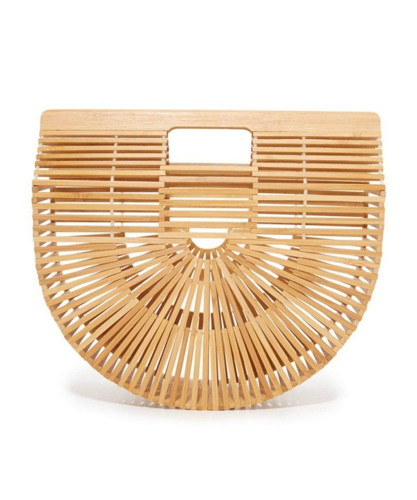 Womens Bamboo Handbag Summer Beach