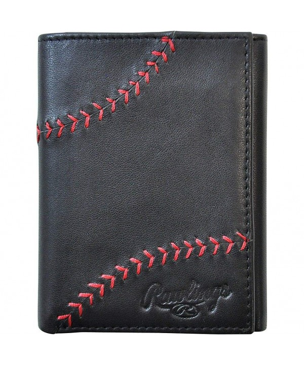 Rawlings Baseball Stitch Trifold Black