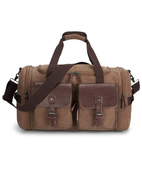 Leather Overnight Duffle Weekend Luggage