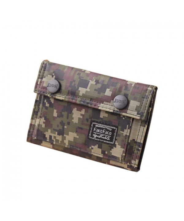 Camouflage Wallet Holder Change Pocket