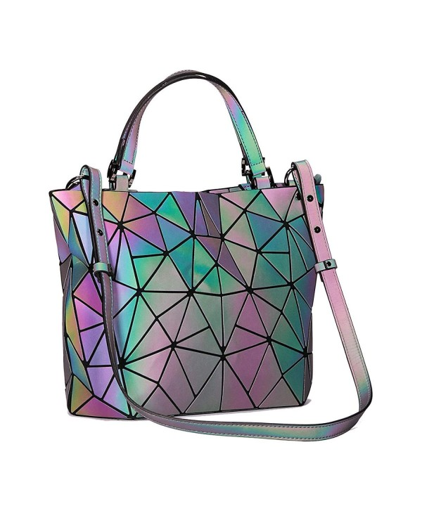 Geometric Handbags Luminous Shoulder Holographic