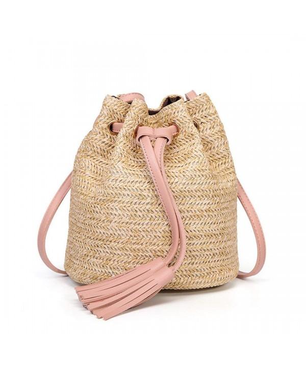Womens Shoulder Bucket Summer Tassel