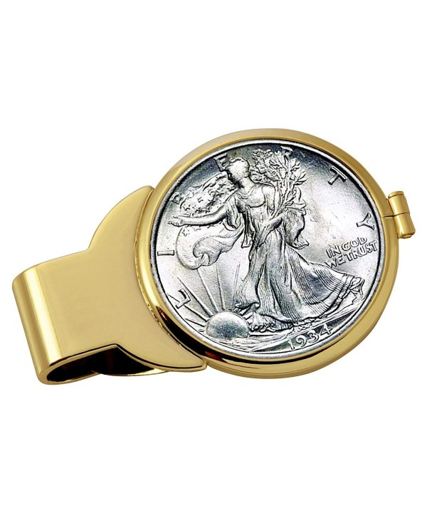 Silver Walking Liberty Goldtone Coin