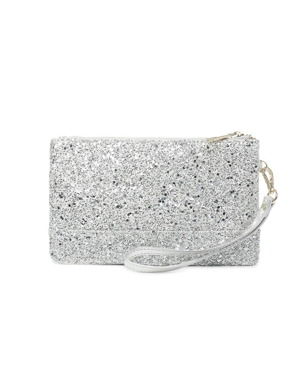 7af10ef807c Womens Shiny Clutch Purse Glitter Evening Clutch Bling Wallet Bag ...