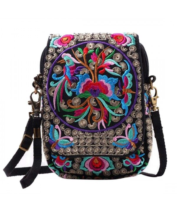 Jiyaru Embroidered Cellphone Crossbody Multicolor