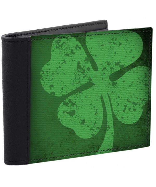 Vintage Shamrock Wallet Leather Accents