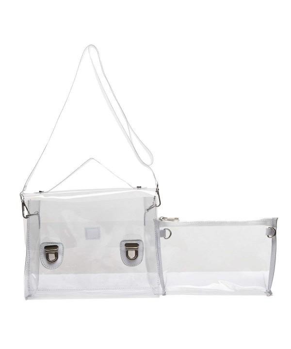 Transparent Piece Shoulder Bag Clutch