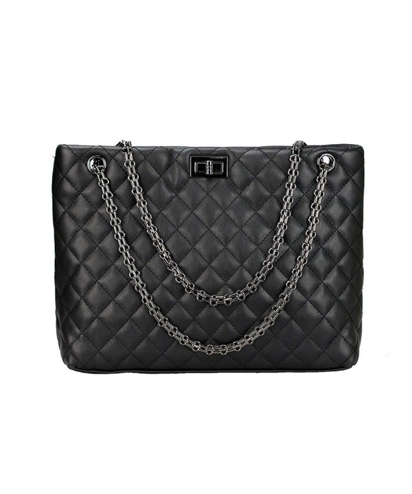 Quilted Handbags Women Metal Shoulder