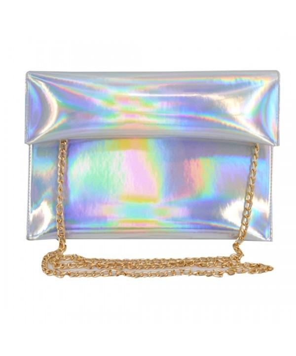 Monique Colorful Holographic Envelope Shopping