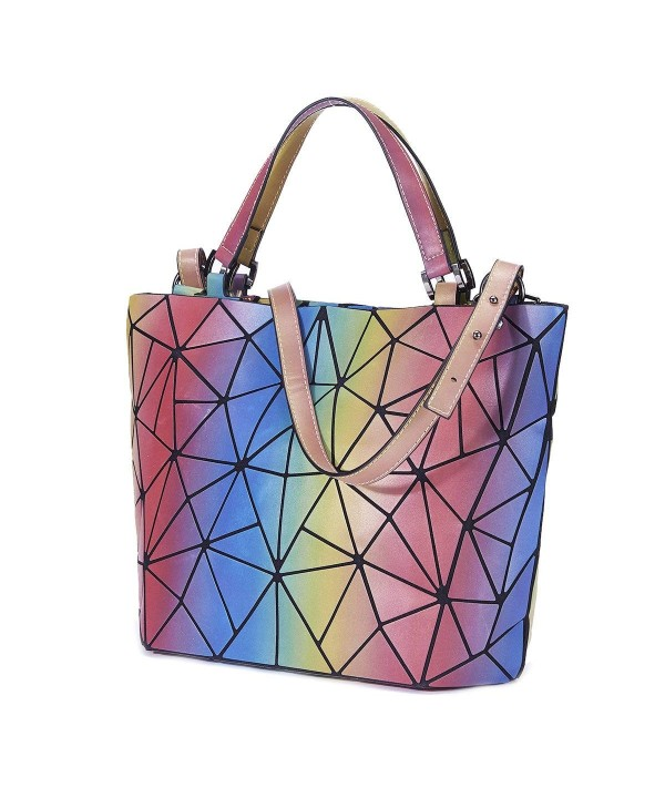 Holographic Luminesk Geometric Crossbody Top Handle