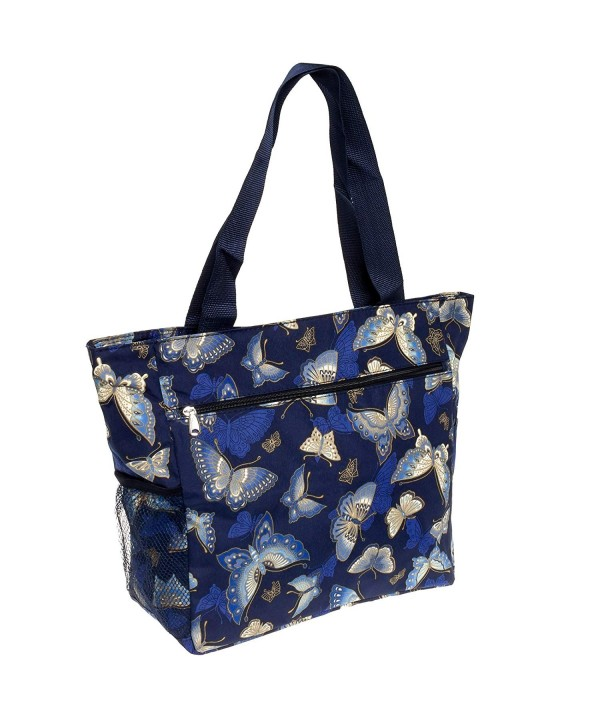 Womens Beach Shopper Tote Butterfly