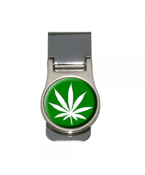 Marijuana Leaf Green Money Clip
