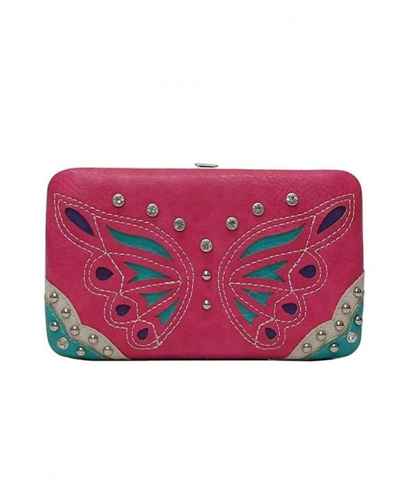 L COLETTE Butterfly embossed accented BFU23000