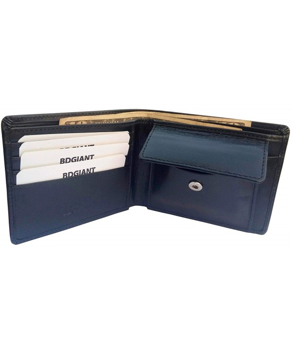 Bdgiant Leather Bifold Credit Sections black